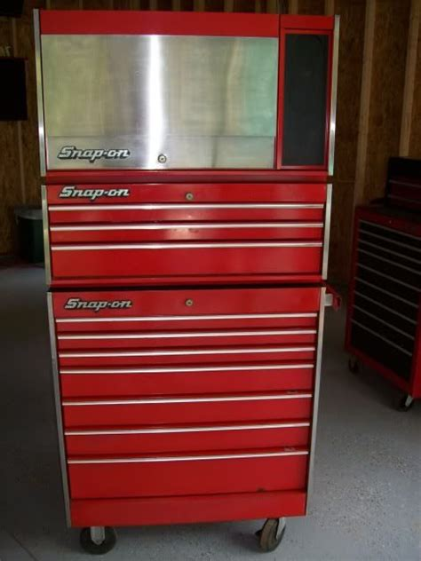 snap on tool box top cabinet snap on vintage tool boxes cabinets