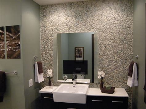 pebble tiles bathroom how to apply pebble tile on a wall how tos diy