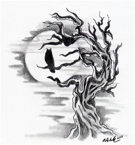 45 simple owl tree tattoos golfian com