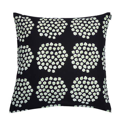Marimekko Pillows Sale by Marimekko Puketti Black Green Throw Pillow Marimekko Sale