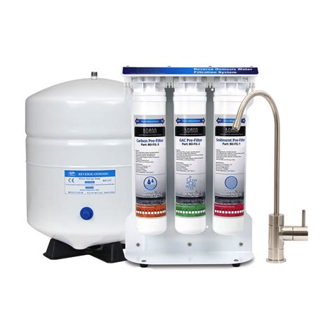 osmosis water filters boann bnro6sys 6 stage osmosis water filtration system with twist filters lowe s