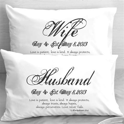 Wife Husband Bible Verse Pillow Cases 1 Corinthians by