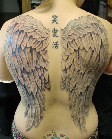 25 Stupendous Full Back Tattoos Creativefan Back Wing Tattoos Designs