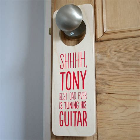 door hanger personalised door hanger for him by the design conspiracy