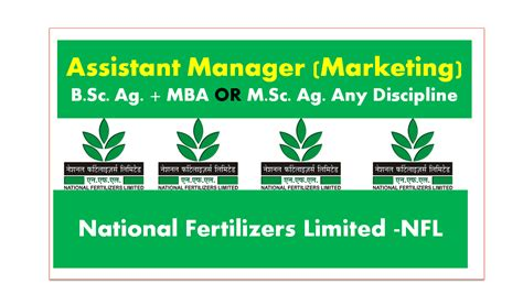 For Mba Agribusiness Freshers by Assistant Manager Marketing In National Fertilizers