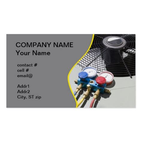 hvac business cards templates collections of hvac business cards