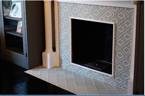 revival moroccan tile fireplace for the home