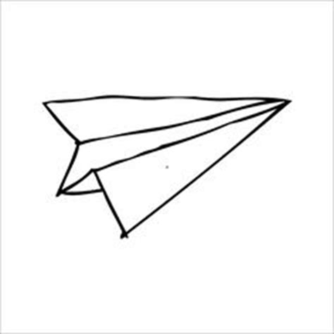 Paper Airplane - paper airplane drawing free clipart images