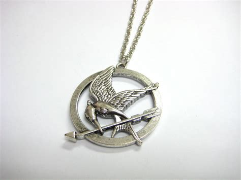 hunger mockingjay necklace silver my import store