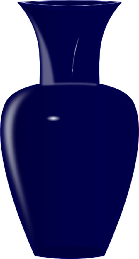 Free Vase by Blue Glass Vase Clip At Clker Vector Clip