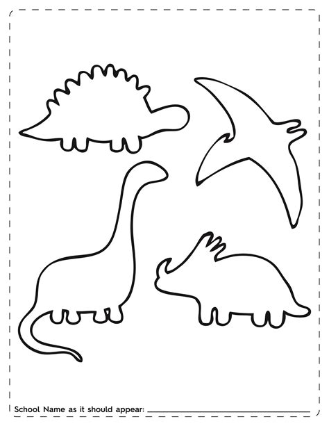 free dinosaur templates dinosaur outline template cliparts co