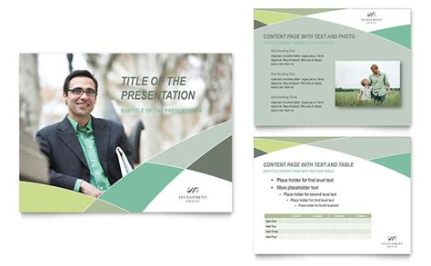 Financial Advisor Powerpoint Presentation Template Design Investment Presentation Powerpoint Template