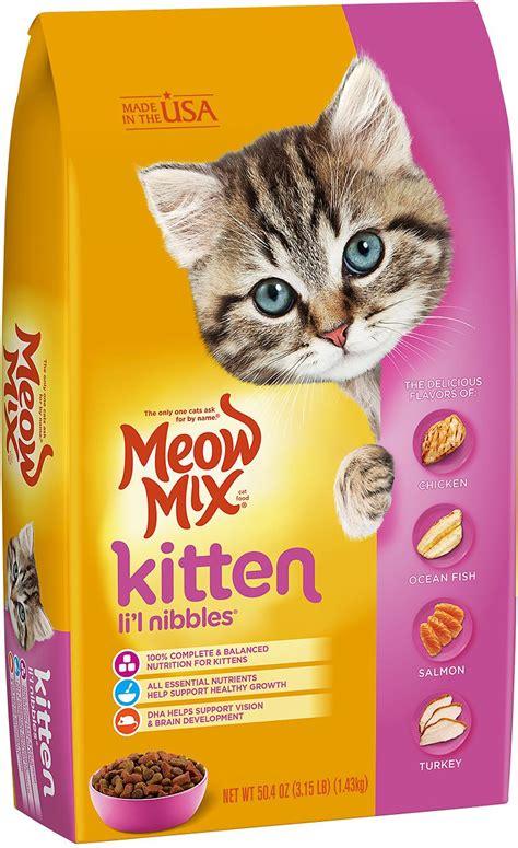 meow mix kitten li l nibbles cat food 3 15 lb bag