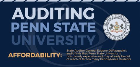 Mba Penn State Cost by Pa Auditor General Penn State Tuition Growth Outrageous