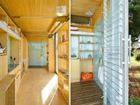 Shipping Container Homes Interior by Compact And Sustainable Port A Bach Shipping Container