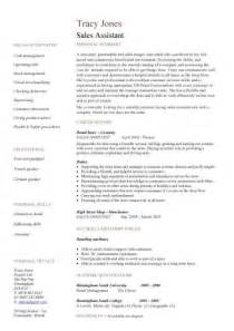 Resume Sles For Assistant by Sales Assistant Cv Exle Shop Store Resume Retail Curriculum Vitae