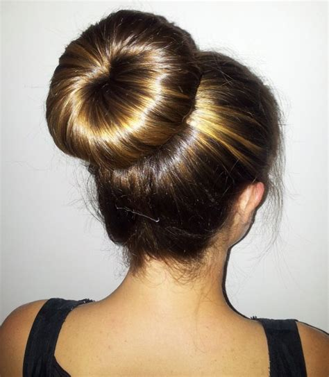 hairstyles using a bun donut hairstyles using a bun donut donut bun with long hair
