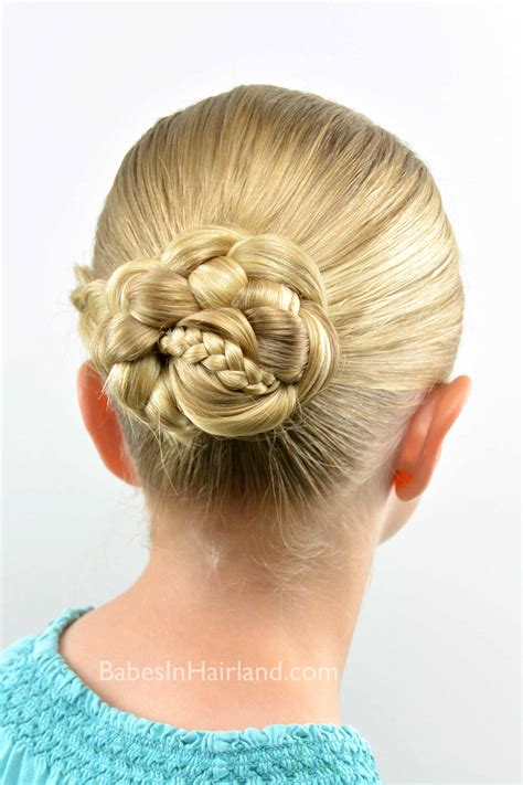 micro braid striped bun   school style babes  hairland