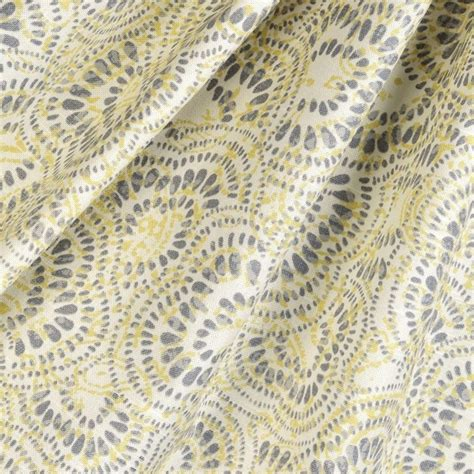 grey and yellow upholstery fabric scalloped fabric yellow and gray contemporary