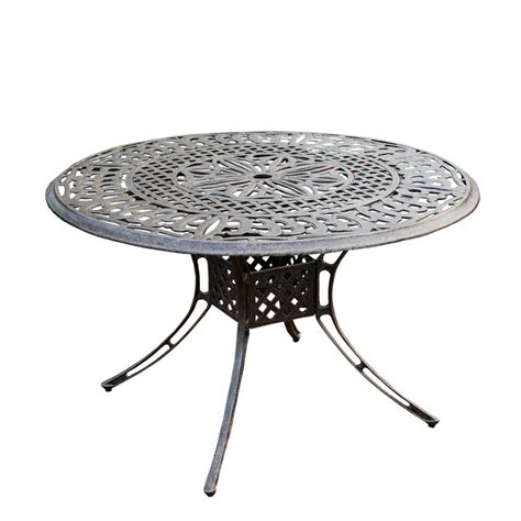 Metal Patio Dining Table Hton Bay Mix And Match Rectangle Metal Outdoor Dining Table Fts00502jp The Home Depot
