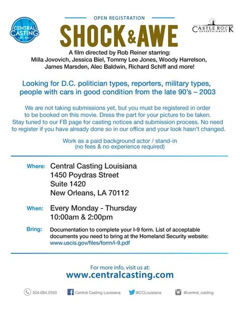 open casting film indonesia 2016 open casting call for new rob reiner movie quot shock awe
