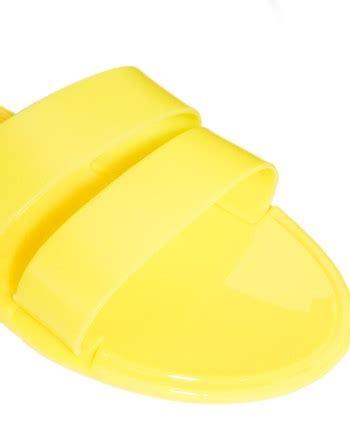 Yellow Black Jelly Flat Shoes 38 stella mccartney black compact jersey dress