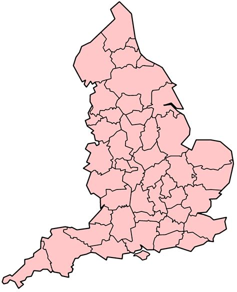 Britain Counties Outline Map by Blank Map Of Uk Counties