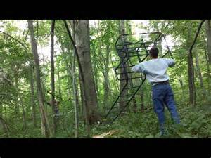 Deer Stand Stairs by How To Put Up A Double Ladder Stand With Just 2 People