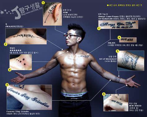 jay park new tattoo 2015 谁有朴宰范耳朵背后 和脖子背后的纹身图案 百度知道