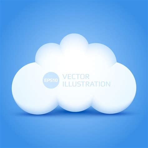 3d cloud 3d cloud with blue background vector free download