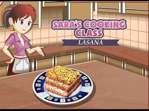 sara juegos de cocina lasa 241 a juegos de cocina con sara youtube