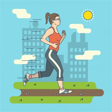imagenes de happy birthday runner woman running illustration vector free download