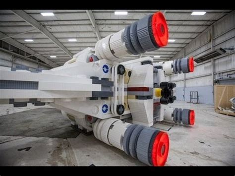 lego boat full size world s largest lego model a life size x wing fighter