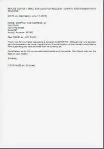 Charity Regret Letter Every Bit Of Life Refusal Letter For Sponsorship