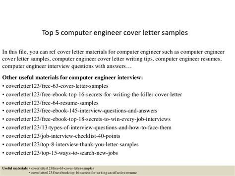 Associate Network Engineer Cover Letter by Top 5 Computer Engineer Cover Letter Sles