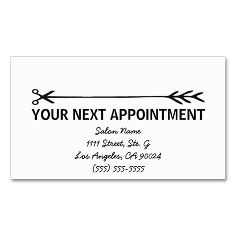 Appointment Business Card Template by 17 Best Images About Appointment Business Card Templates
