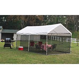 Bed Bath And Beyond Outdoor Canopy Buy Shelterlogic 174 Canopy Screen Kit 10 Foot X 20 Foot From