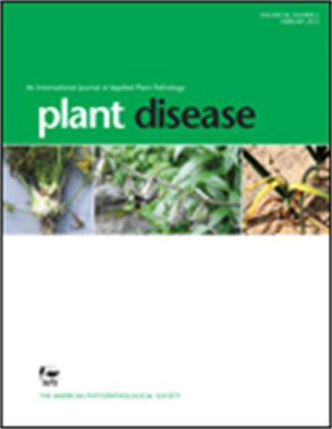 plant disease report publications