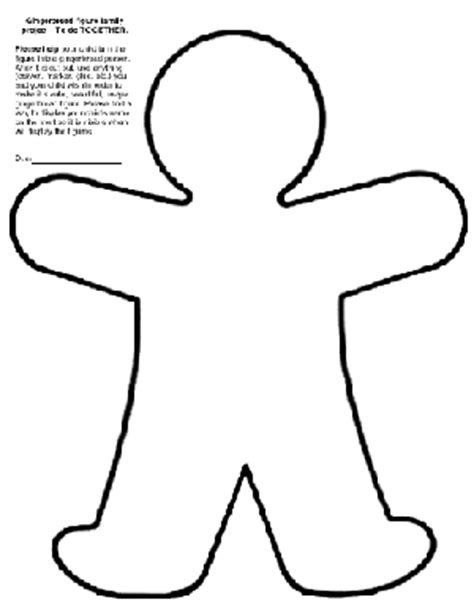 person template preschool cut out gingerbread new calendar template site