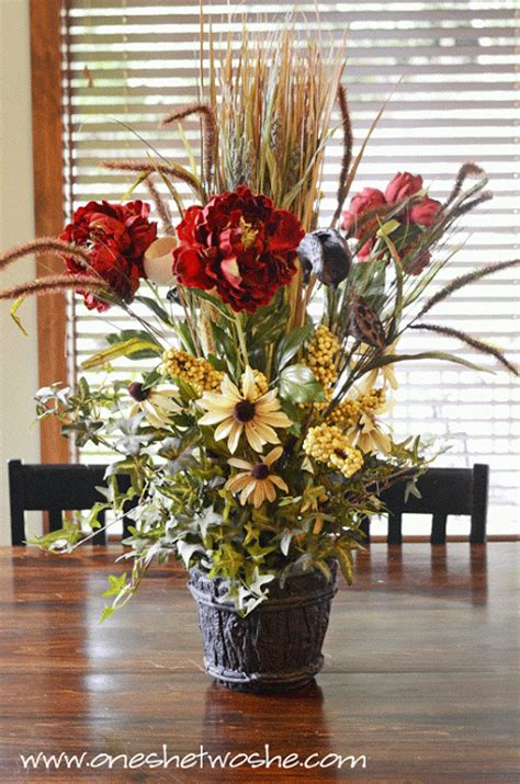 diy silk flower arrangement centerpiece saved me 100