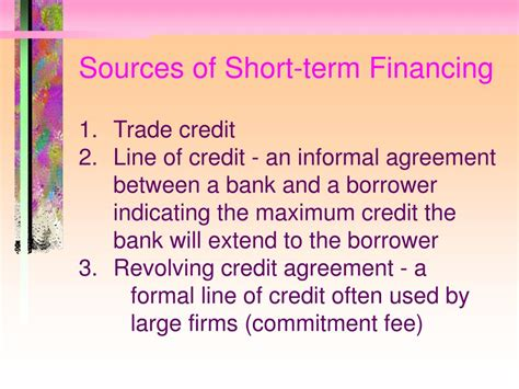 Formal Line Of Credit Ppt Multi Period Flow Problems Powerpoint