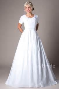 Modest wedding dresses mormon lds temple marriage weston modest