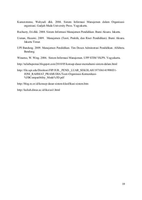 Menejemen Teori Praktik Riset Dan Pendidikanhusaini Usman sistem dalam organisasi dori novita l 162012023
