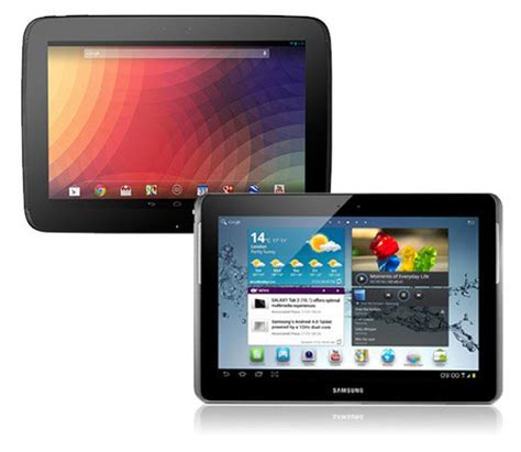 Tablet Samsung Vs nexus 10 vs samsung galaxy tab 2 10 1 comparison review pc advisor