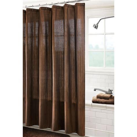 solid brown shower curtain canopy solid stripe shower curtain chocolate bathroom