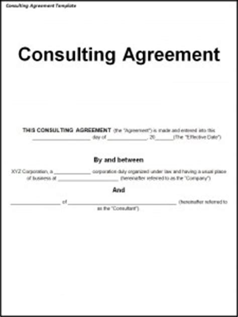 Consulting Agreement Template Word Excel Templates Simple Consulting Template