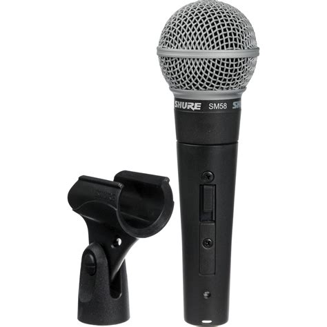 Shure Sm 58 Switch Mic Mik Microphone Mikrofon Kabel Sm58 Aksesoris shure sm58s vocal microphone with on switch sm58s b h