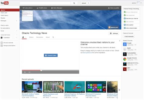 youtube old channel layout how to switch to youtube s new channel design right now
