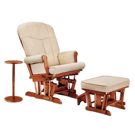 Microfiber Glider Recliner With Ottoman by Shermag Sleigh Reclining Glider Ottoman And Side Table In
