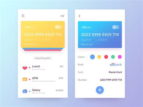 app design rates showcase of colorful mobile user interface designs